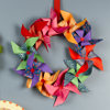 pretty pinwheel wreath